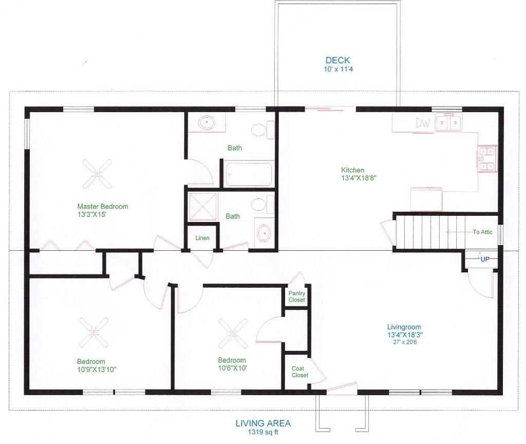 Projekt układu pomieszczeń