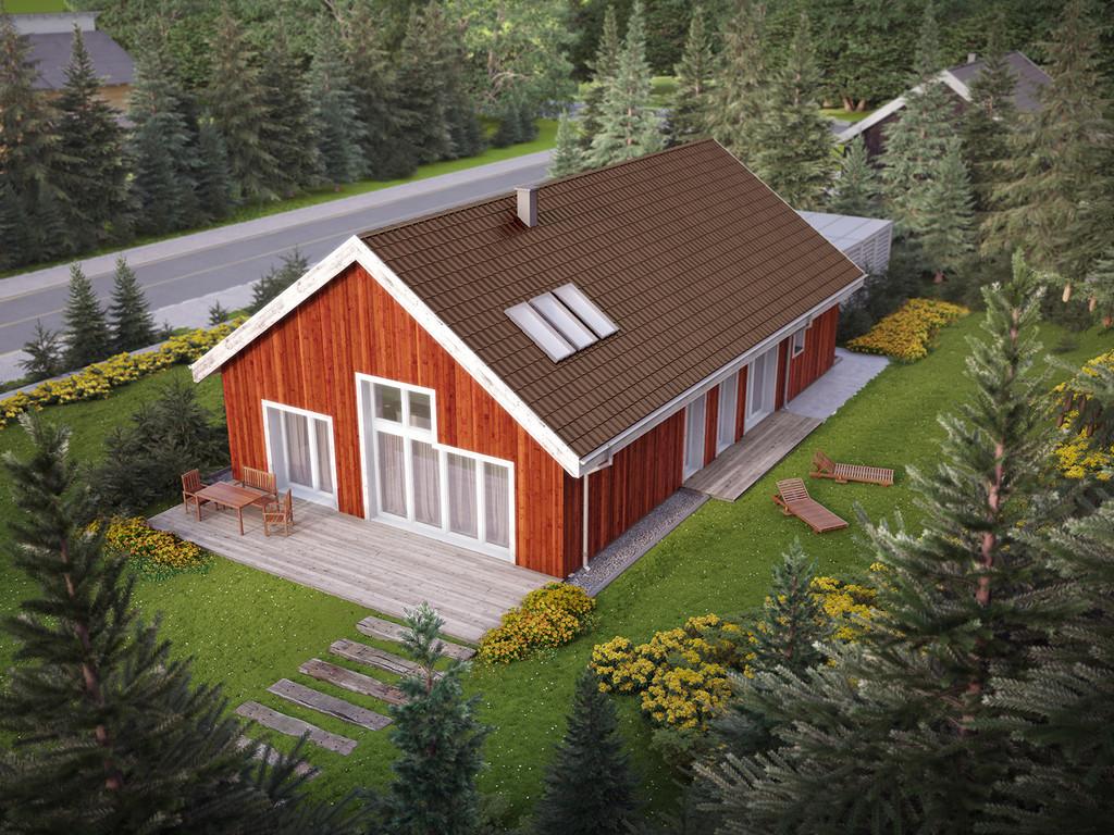 Projekt domu Skandynawski
